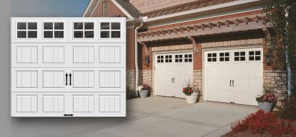 Grooved Panel Steel Carriage House Garage Doors With Or Without Insulation